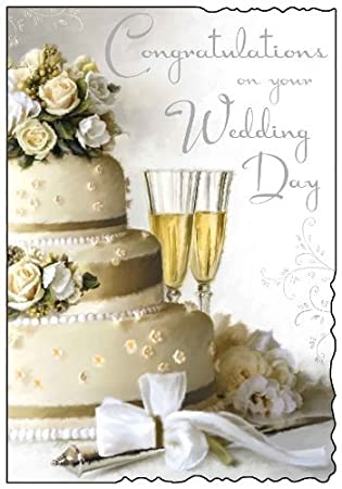 Congratulations On Your Wedding Day.Congratulations Wedding Day Card Jj1344 Amazon Co Uk Office Products