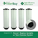 4 - Hoover WindTunnel, EmPower, Savvy Washable Long-Life HEPA Filters, Part #'s 40140201, 43611042 & 42611049. Designed by FilterBuy to fit ALL Hoover Upright Vacuum Cleaners