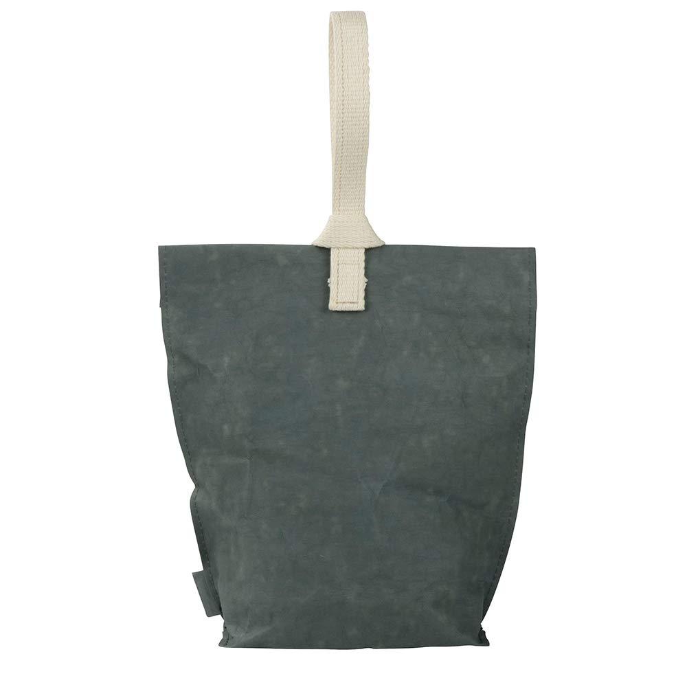 Borsa Pranzo al Sacco grande 23 x 33 cm antracite naturale papyrMAXX Lunchbox YUMMY PLUS Taglia L Ecologica Borsa per Lunchbox in Carta Lavabile I Borsa da Pranzo in stile Urban made in Germany