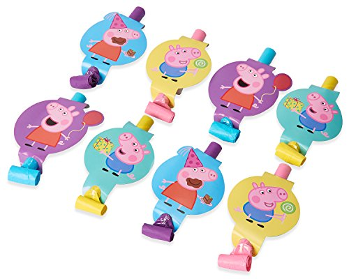 American Greetings Peppa Pig Party Blowers, 8-Count]()