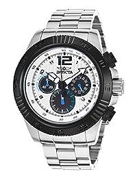 Invicta 15894 Men's Speedway Chrono Stainless Steel Silver-Tone Dial Black Bezel Watch
