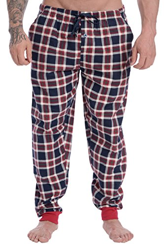 Wanted Men's Soft Cotton Pajama Flannel Jogger (Varsity Tartan, Medium) Soft Flannel Pajamas