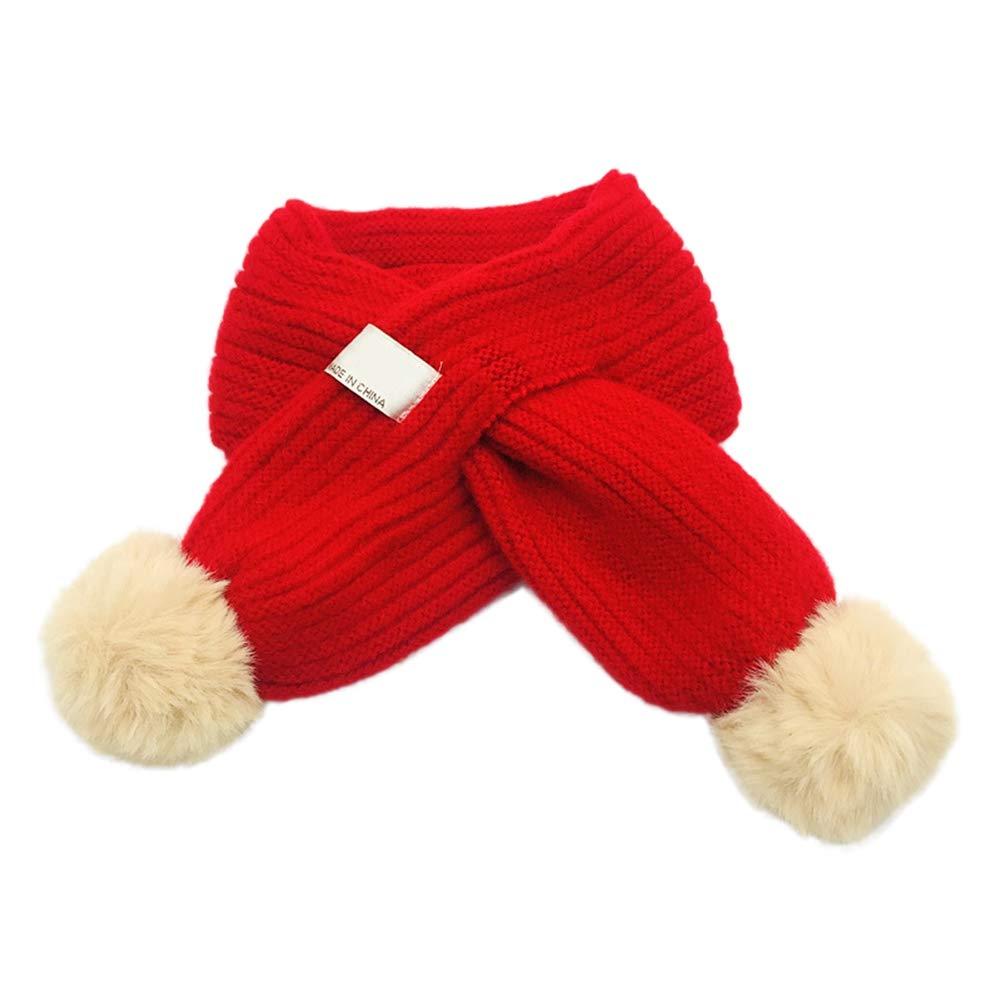 Pour bébé Echarpe Enfant 1-10Ans Multicolore avec Deux Grandes Boules Chaud  Automne et Hiver Echarpes Croisée Fille Garçon  Amazon.fr  Vêtements et ... d67d0c5c0e9