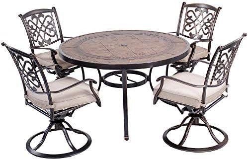 dali Outdoor 5 Piece Dining Set Patio Furniture