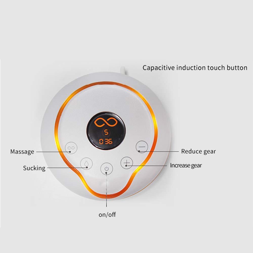 Rabbfay Recargable Eléctrico Sacaleches Bomba, Portátil Doble Bomba Eléctrico Amamantamiento Masaje Amamantamiento Dispositivo, LED Líquido Cristal Monitor, ...