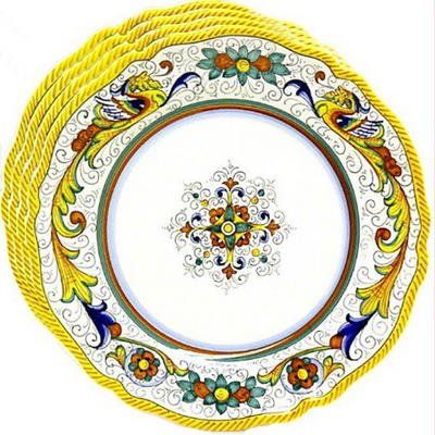 Deruta Raffaellesco 4-Piece Dinner Plate Set (11-inches Diameter)