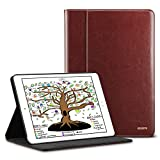 ESR iPad 9.7 Inch 2018/2017 Case with Pencil Holder, Premium PU Leather Business Folio Stand Case with Organizer Pocket and Smart Auto Wake/Sleep for iPad 9.7 inch (iPad 6, iPad 5), Brown