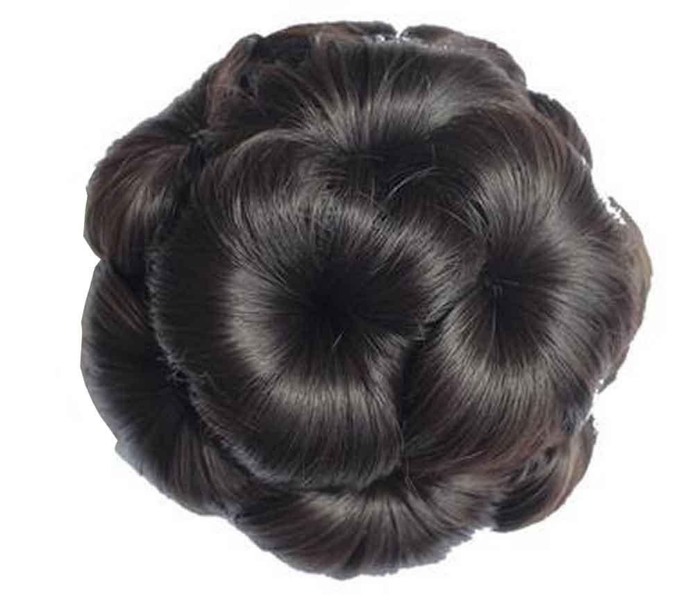Amazon Com Fake Hair Bun With Hair Clip Easy To Wear Black Brown Beauty