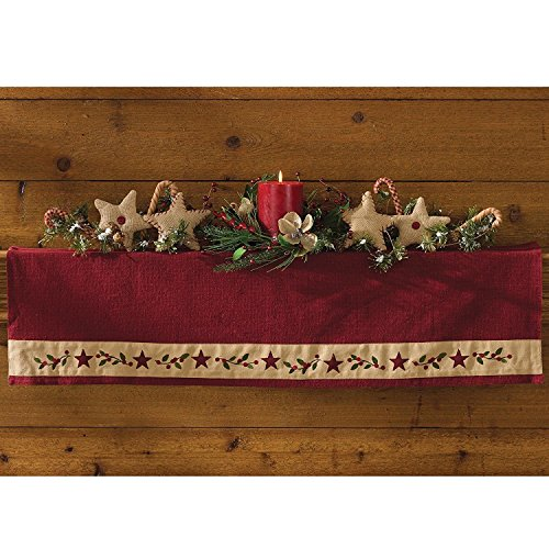 Park Designs Christmas Star Mantle (Christmas Mantel Scarf)