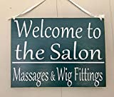 Welcome to the Salon 10x8 (Choose Color) Spa Office Doctor Hospital In Session Rustic Custom Wood Sign