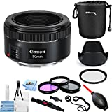 Canon EF 50mm f/1.8 STM Lens #0570C002 [International Version] (Pro Bundle)