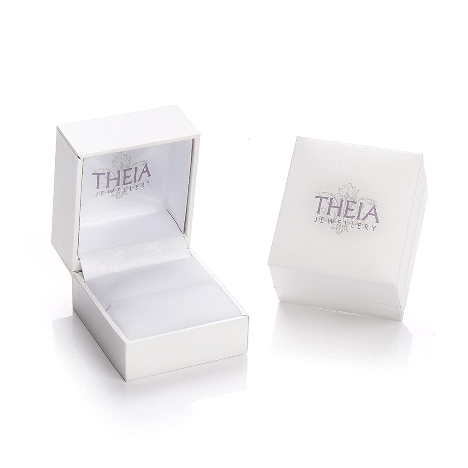 Theia Flat Court 0.15 ct Diamond 7 mm Titanium and Silver Inlay Ring meoXLD