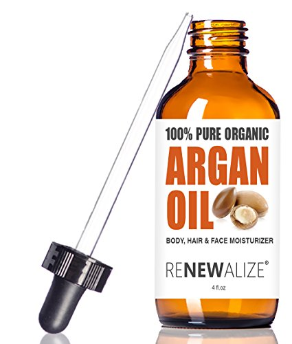 Virgin Organic Moroccan ARGAN Oil - in 4 oz Dark Glass Bottle | 100 Pure, Unrefined, Cold Pressed | an Essential All Natural Hair & Scalp Moisturizer Toner for Dandruff Frizzy Dry Split End Treatment