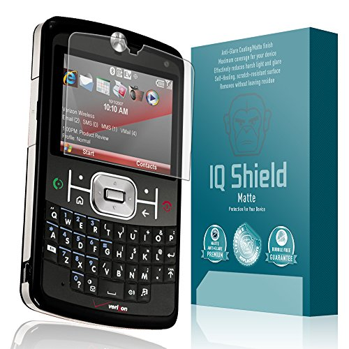 IQ Shield Matte Full Coverage Anti-Glare Screen Protector for Motorola Q9c (Q9m) Anti-Bubble Film