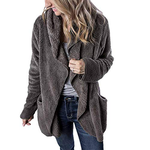 Womens Hooded Coats Duseedik Long Sleeve Winter Warm Hoodie Outwear Casual Pea Coats Plus Size Down Jackets Gray -