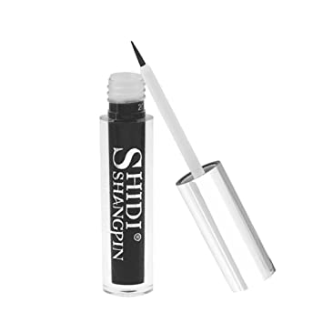 SHIDISHANGPIN Waterproof False Eyelash Glue Fast Drying Adhesive Latex Secure Hold Glue 5ml (Black-