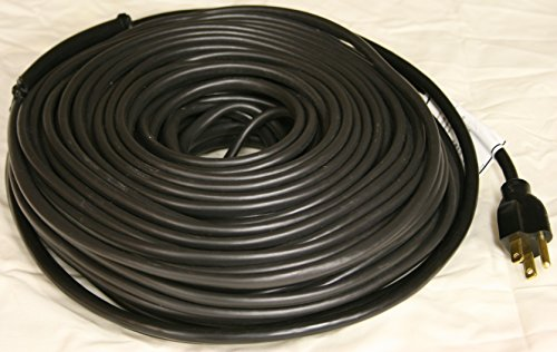 WRAP-ON Roof and Gutter Deicing Cable - 100' Black Electric Heating Cord with 3 Prong Plug & 120 Volt Operation - 14101