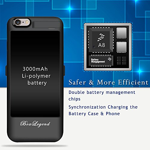 BoxLegend 3000mAh Polymer Battery Charger Charging Case for iphone 6/6s - Black by BoxLegend (Image #4)