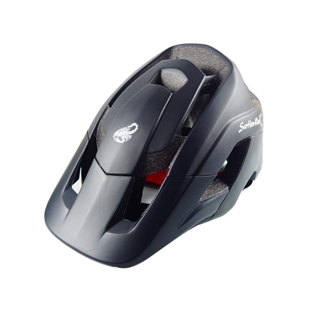 LIJIAN サイズ:M、頭の長さ:54-58 cm、スポーツ用マウンテンバイク用保護ヘルメット (色 : ブラック)  ブラック B07Q82HPG8