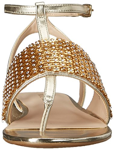 Nine West Women's Siobhan Dress Sandal Light Gold D4QB2
