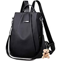Women Backpack Purse 10L Small Anti-Theft Shoulder Bag, Everyday Waterproof Nylon Lightweight Bag for Girls with Keychains