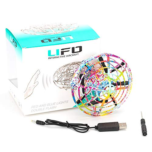 Flying Ball KOOWHEEL Hand Operated Drones for Kids and Adults, UFO Toy Controlled by Hand Mini Drones for Beginners, Hand Controlled Helicopter Ball with LED Lights, Flying Toys for Boys Girls by KOOWHEEL (Image #9)