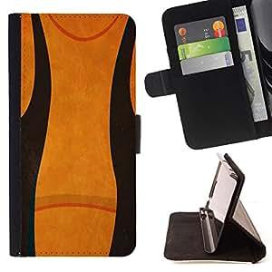 - abstract black orange/ Personalizada del estilo del dise???¡¯???¡Ào de la PU Caso de encargo del cuero del tir???¡¯????n del s - Cao - For Samsung Gala
