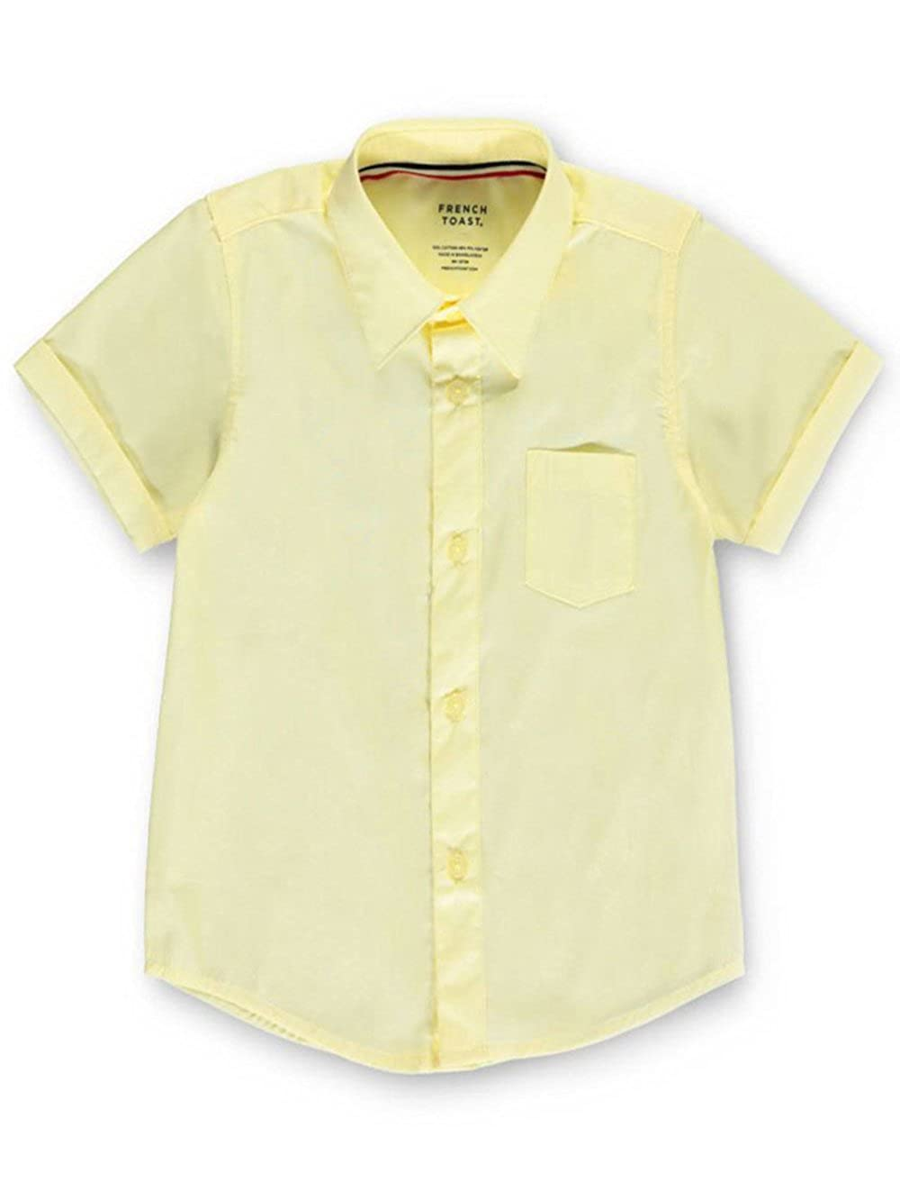 French Toast Unisex S/S Button-Down Shirt - yellow, 12