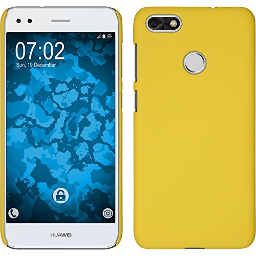 PhoneNatic Hardcase Compatible with Huawei P9 Lite Mini - Rubberized Yellow Cover Cover