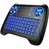 Mini Wireless Keyboard Dootoper 2.4G Mini Wireless XBMC Keyboard with Touchpad,Mouse Combo - Multi-media Portable Handheld Android Keyboard - for IPTV\Smart TV\Android TV Box\PAD\PC\XBOX360 (BLACK)