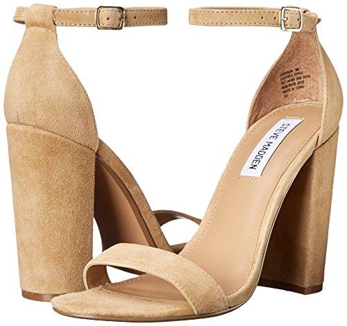 22a5618216e Steve Madden Women's Carrson Dress Sandal, Sand Suede, 7.5 M ...
