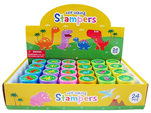 TINYMILLS 24 Pcs Dinosaur Stampers for Kids for $<!--$7.99-->