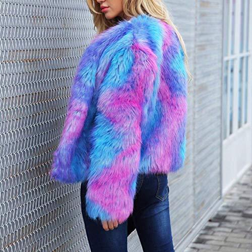 Fausse Ishine Short Coloré Fourrure Hiver Veste Shaggy Femmes Et Chaud En Manteau Outwear fwtgU