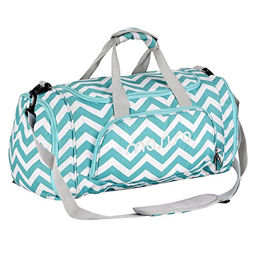 Mosiso Gym Bags Polyester Sports Travel Overnight Duffels for Men/Ladies, Chevron Hot Blue - Ladies Gym