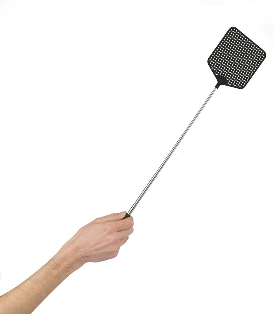 La tapette à mouche extensible télescopique en plastique 2x empêche les