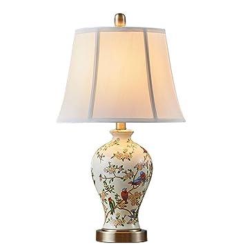 JJJJD Lámpara de mesa Lámpara de escritorio de cerámica ...