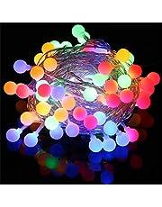 Cadena de Luces - Guirnalda Luces 10M 100 LED Cuerda Luces Bombillas Multicolor Decoración Interior, Jardines, Casas, Boda, Fiesta de Navidad (colorido)