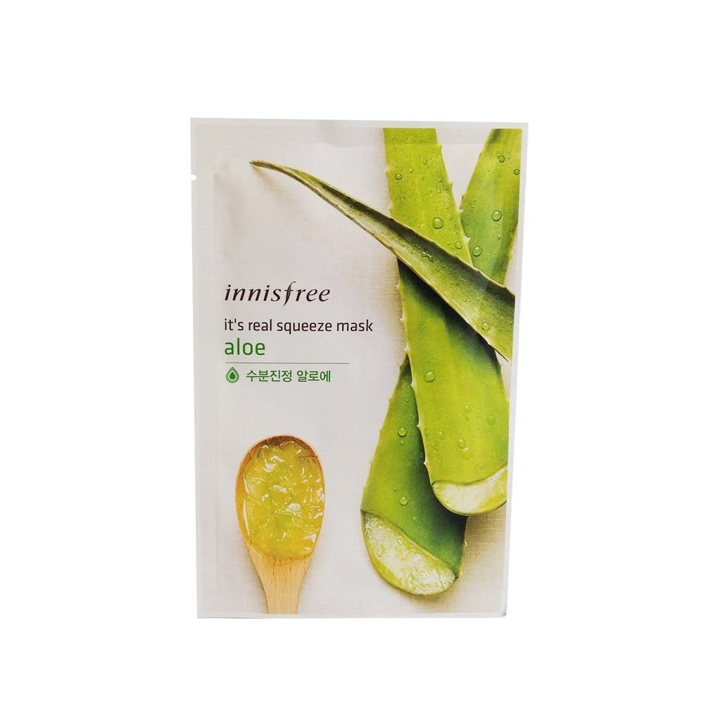 Innisfree Its Real Squeeze Mask Aloe 20ml15pcs Beauty Lime