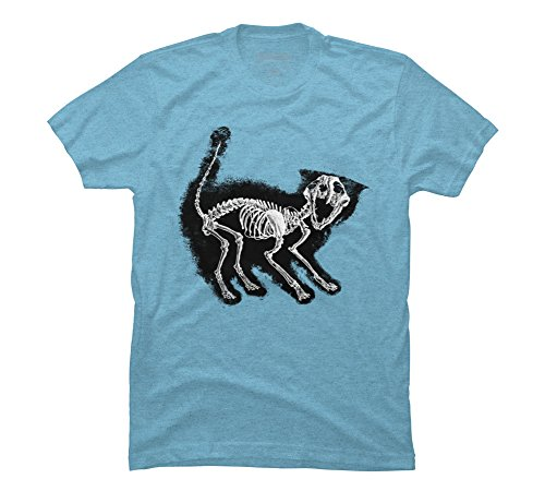 The Purrfect Scare Men's Small Sky Blue Heather Graphic T Shirt