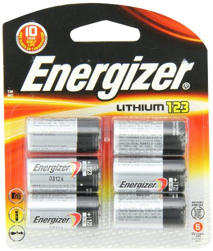Energizer Photo Battery 123, 6-Count from Energizer