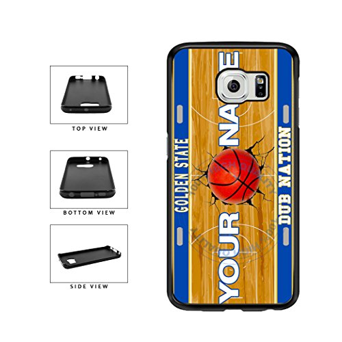 BleuReign(TM) Personalized Dub Nation Custom Name Basketball Team Golden State License Plate TPU RUBBER SILICONE Phone Case Back Cover For Samsung Galaxy S7 Edge
