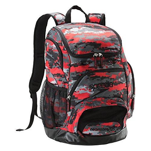 Speedo Printed Teamster 35L Backpack, Red Alert, 1SZ