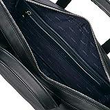 Lacoste Men's MEN'S L.12.12 LEATHER CASUAL COMPUTER BAG Accessory, -black, ONE