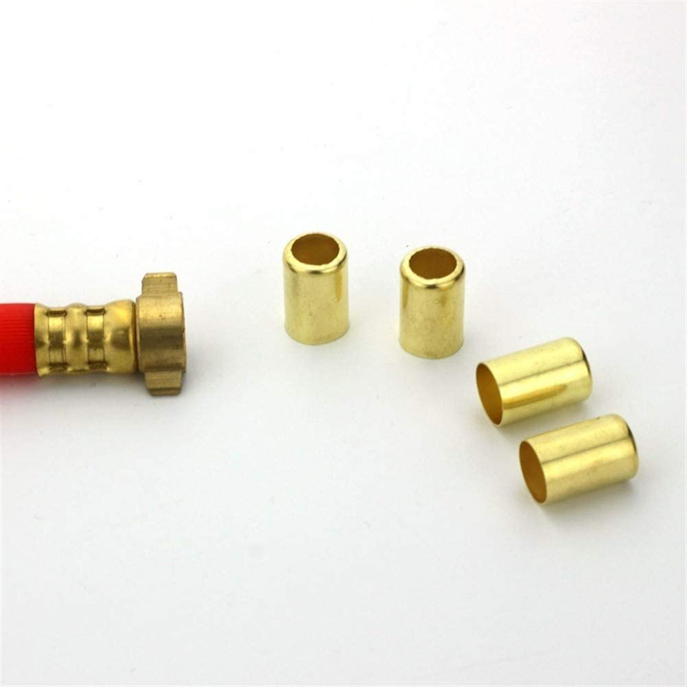 CHENTAOMAYAN 50PCS Copper Exhaust Sleeve Pipe Repair Connector 12.5mm-16mm Soft Pipe Clamp Tube Press Water Air Adaptor (Color : 15.5MM) 14.2mm