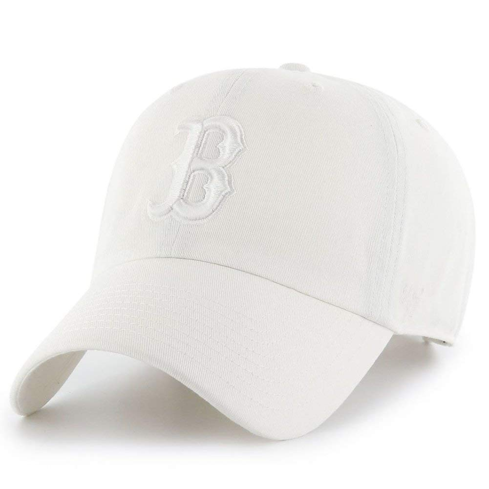 b51f131ea68679 '47 Brand Boston Red Sox Clean up Baseball Cap - White one Size fits All:  Amazon.co.uk: Clothing