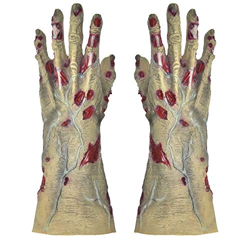 amscan Zombie Gloves for Adults, Halloween Accessories for Zombie Costume, One -