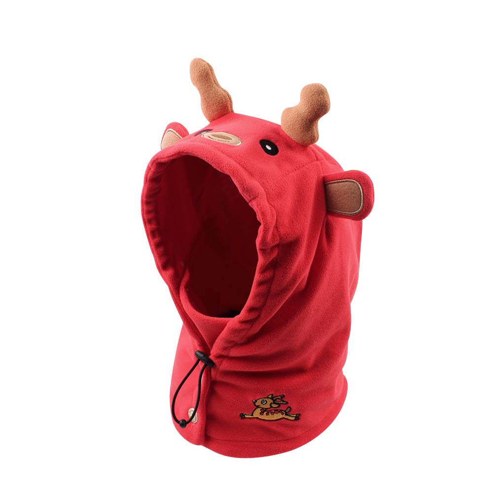 e27d5a08340722 Baby Winter Scarf Hat Cute Warm Kids Boys Girls Earflap Beanie Cap with  Telescopic Rope,Buttons,Windproof Mask (M, Deer)