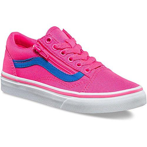 6c07b0c3be Galleon - Vans VA38HEMMV Kids (Neon Canvas) Old Skool Zip Shoes ...