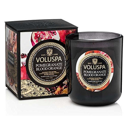 - Voluspa Pomegranate Blood Orange Candle, Classic Maison, 12 Ounce