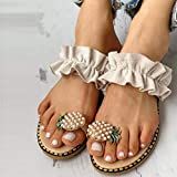 Challyhope Sweet Cute Pineapple Pearls Sandals Clip
